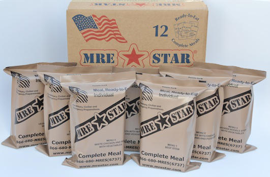 12 Pack MRE Meals with Heater
