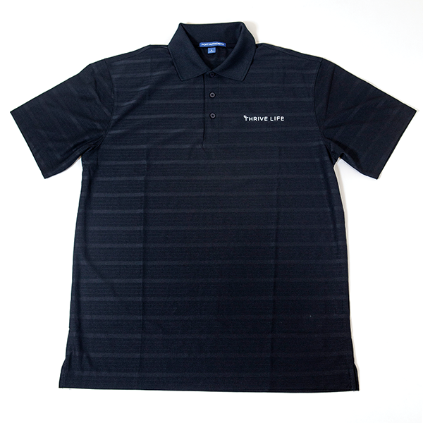 Men's Thrive Life Black Polo