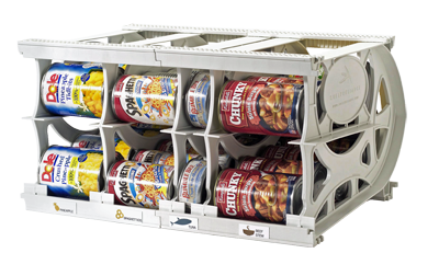 Cansolidator Pantry Rotates Up To 40 Cans